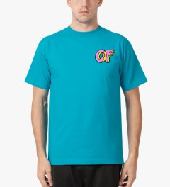 Odd Future Turquiose OF Donut T-Shirt Model Picutre