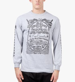 The Hundreds Athletic Heather Stencil L/S T-Shirt Model Picutre