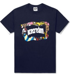 ICECREAM Navy S/S Mash T-Shirt Picutre