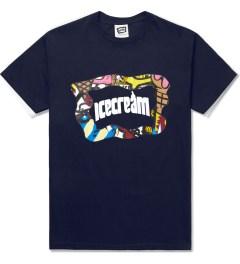 ICECREAM Navy S/S Mash T-Shirt Picutre