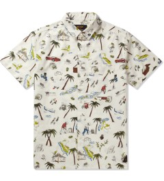 10.Deep White Beachfront Button Down Shirt Picutre