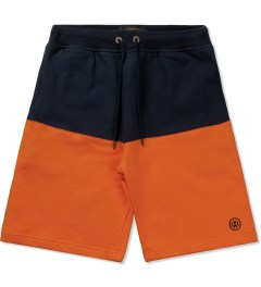 10.Deep Orange Split Sweatshorts Picutre