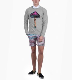 Paul Smith Lightbox Mesh Print Shorts Model Picutre