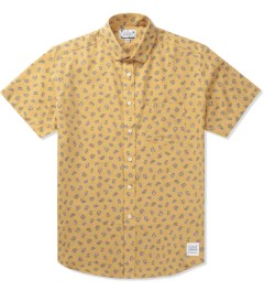 Grind London Yellow Mustard Paisley S/S Shirt Picutre