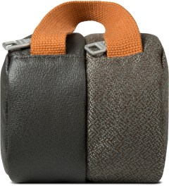 ULTRAOLIVE Grey/Rust Pebble Double Pouch Model Picutre