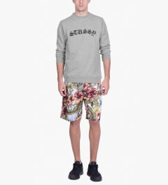 Stussy Heather Grey Gothic EMB. Sweater Model Picutre