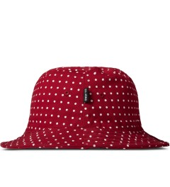Undefeated Red Dot SU14 Bucket Hat Model Picutre