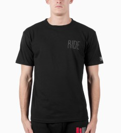 ICNY Black Ride 3M Reflective Dri-Balance T-Shirt Model Picutre