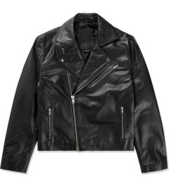 MKI BLACK Black High Grain Biker Jacket Picutre