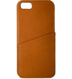 MUJJO Tan Leather iPhone 5 Wallet Case Picutre