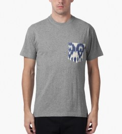 10.Deep Heather Grey Tribes Pocket T-Shirt Model Picutre