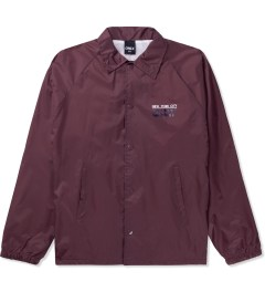 ONLY Maroon Dot Coach Jacket Picutre