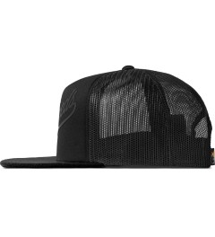 The Hundreds Black Books Snapback Cap Model Picutre