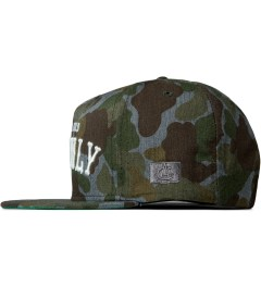 Acapulco Gold Heathered Camo Cash Only Snapback Cap Model Picutre