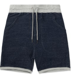 Thing Thing Navy Grain Shinobi Shorts Picutre