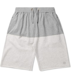 10.Deep Heather Grey Split Sweatshorts Picutre