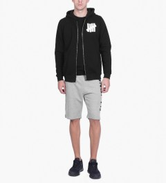 Undefeated Black 5 Strike Basic Zip Hoodie Model Picutre