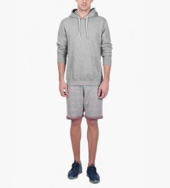 Reigning Champ Heather Grey RC-3206-1 Midweight Twill Terry L/S Pull Over Hoodie Model Picutre