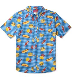 Odd Future Blue Musty Burger S/S Woven Shirt Picutre