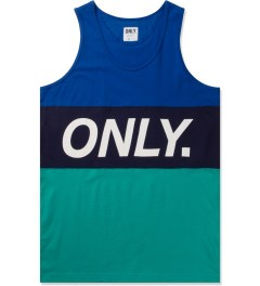 ONLY Navy/Green Logo Sports Tank Top Picutre