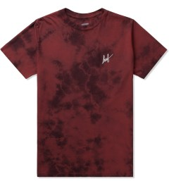HUF Red Small Script Crystal Wash T-Shirt Picutre
