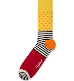 Happy Socks Red/Yellow Stripes And Dots Socks Picutre