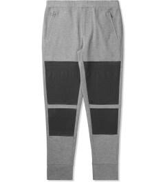 3.1 Phillip Lim Grey Melange Combo Front Panel Slim Lounge Pants Picutre
