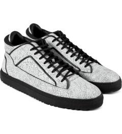 ETQ White Marbleized Mid Top 2 Shoes Model Picutre