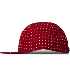 Undefeated Red U Dot Strapback Cap Model Picutre