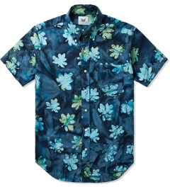 Mark McNairy Blue SS BD BLUE BATIK SHIRT Picutre