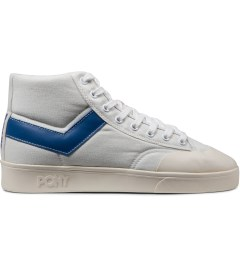 PONY White/Blue Vintage Slamdunk Hi Canvas Sneakers Picutre