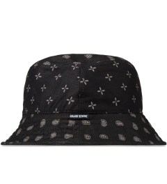 Grand Scheme Black Bandana Bucket Hat Model Picutre
