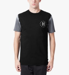 HUF Black/Grey 12 Galaxy Sleeve Wash T-Shirt Model Picutre
