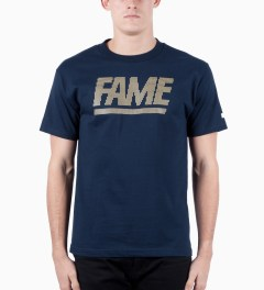 Hall of Fame Navy Fame Block Jumbotron T-shirt Model Picutre