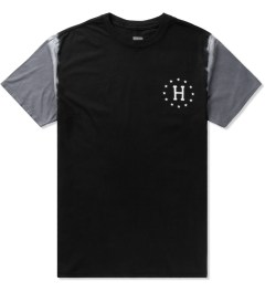 HUF Black/Grey 12 Galaxy Sleeve Wash T-Shirt Picutre