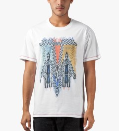 Henrik Vibskov White Four Men Print Smash T-Shirt Model Picutre