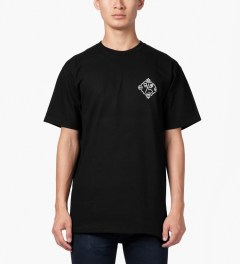 CLUB 75 HUF x Club 75 Black T-Shirt Model Picutre