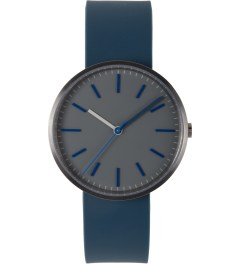 Uniform Wares Pewter Grey / Blue Rubber 104 Series Wristwatch Picutre