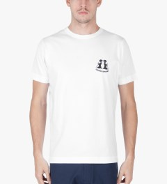 Grind London White Classic Summer Cuts T-Shirt Model Picutre