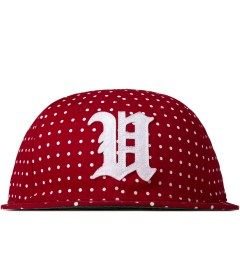Undefeated Red U Dot Strapback Cap Picutre