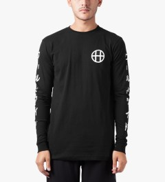 HUF Black Japan Worldwide L/S T-Shirt Model Picutre