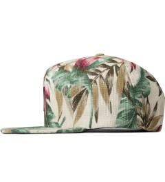 HUF Tan Waikiki Box Logo Snapback Cap Model Picutre