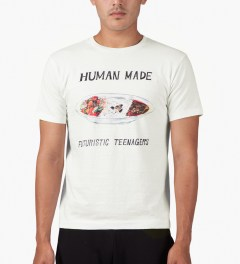 Human Made White Curry Dish T-Shirt Model Picutre
