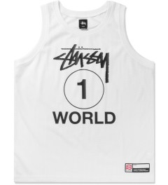 Stussy White One World Mesh Tank Top Picutre