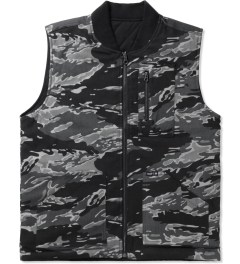 HUF Black Camo/Reversed Tiger Camo Reversible Vest Picutre