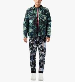 MSGM Navy/Green Giubbino Shirt Jacket Model Picutre