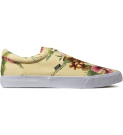 HUF Ivory Floral Cotton Canvas Genuine Shoes Picutre