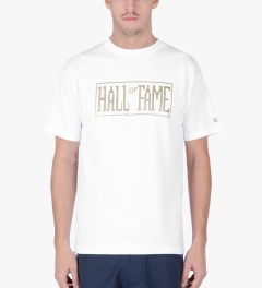 Hall of Fame White Logo Jumbotron T-Shirt Model Picutre