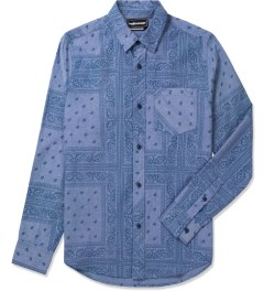 The Hundreds Navy Coast Button Up Woven Shirt Picutre
