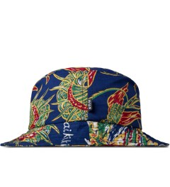 HUF Blue Souvenir Bucket Hat Model Picutre